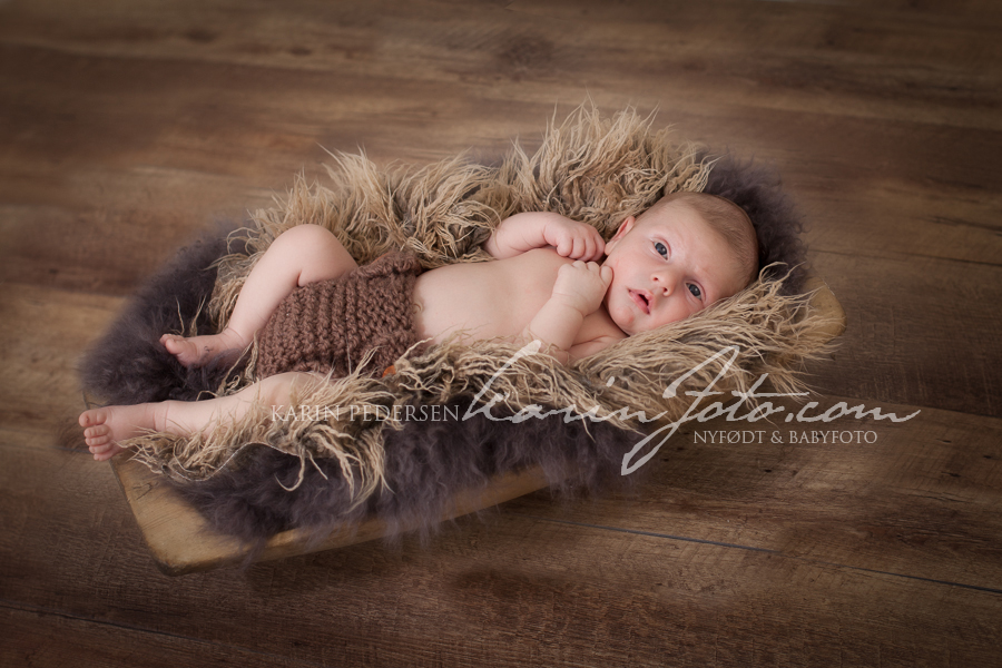 Nyfødtfotografering baby 3 uker