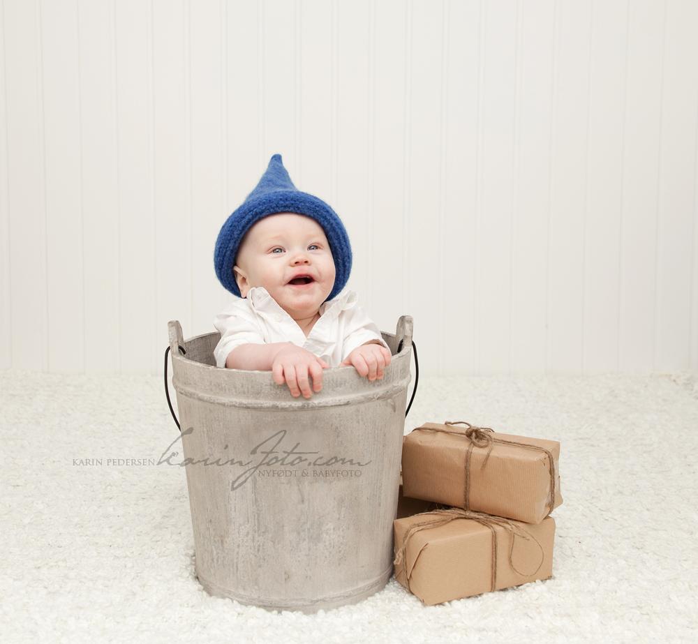 Babyfotografering 7 mnd hos KarinFoto