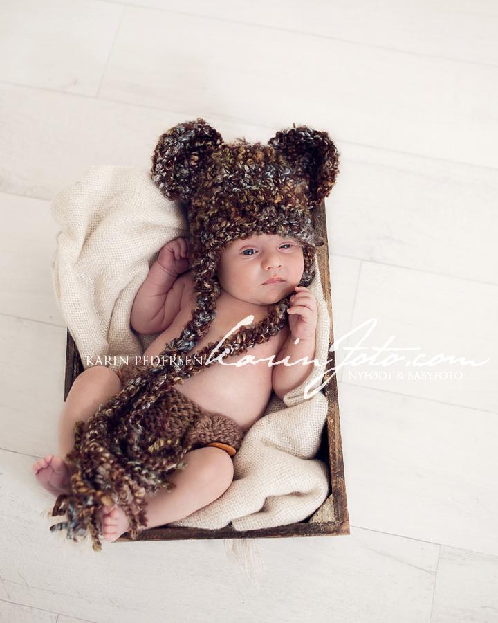 nyfødtfotografering,nydelig,gutt,nyfødt,bjørnelue