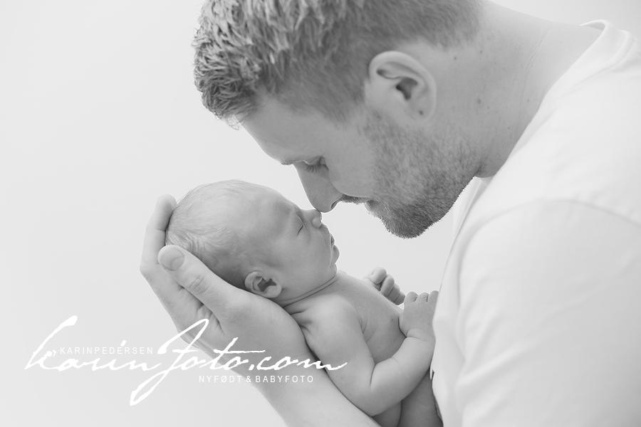 Nydelig far og sønn fotografering