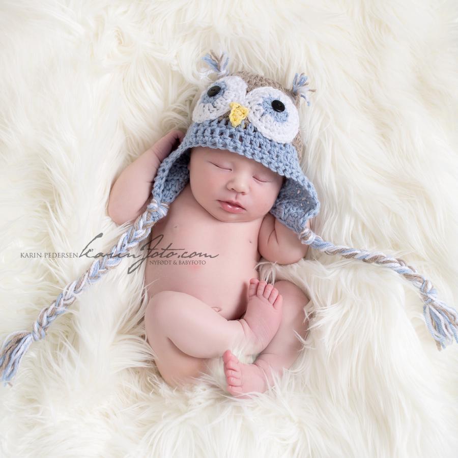Babyfotograf,nyfødtfotografering,uglelue,nyfødt 9 dager,