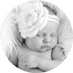 Nyfødtfotografering // Nydelig sorthvitt serie