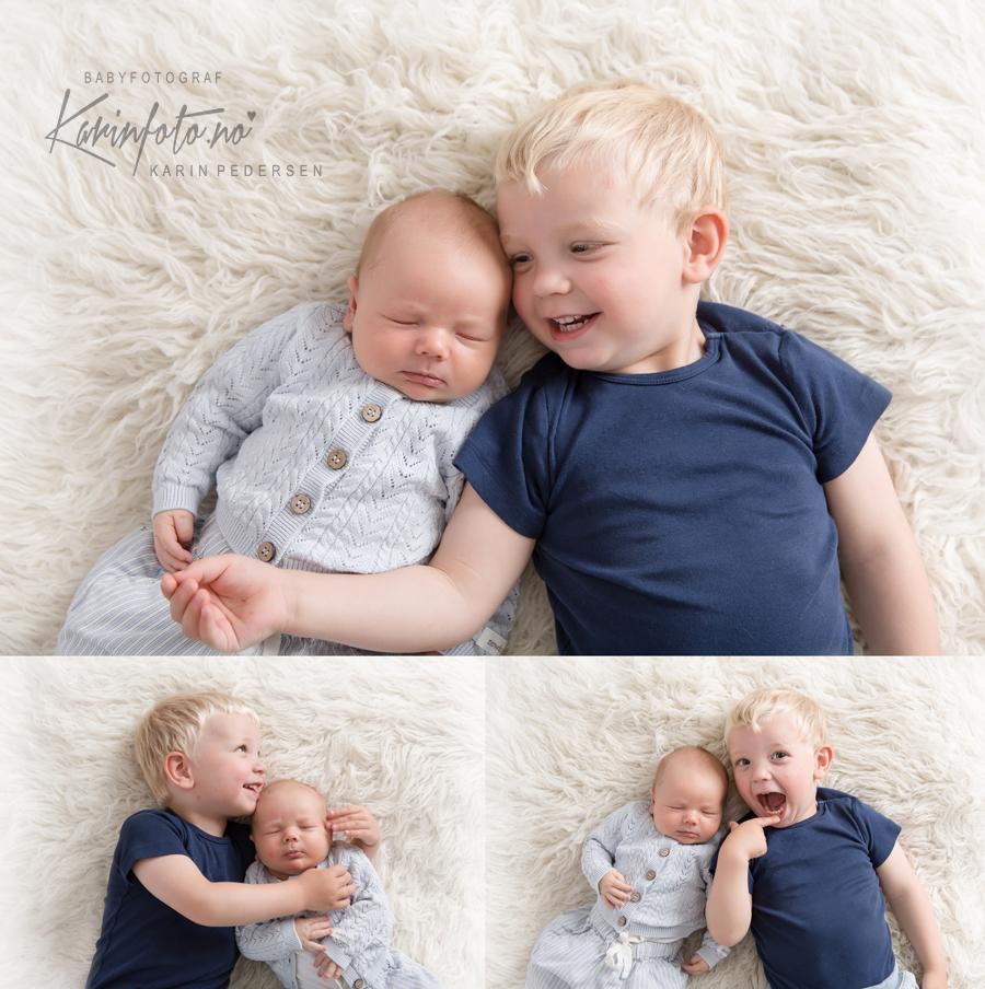 Søskenfotografering_babyfotograf_KarinPedersen_Nyfodtfotografering_Nyfodtfoto_storebror_lillebror_portrett_Babyfotografering_barnefotografering