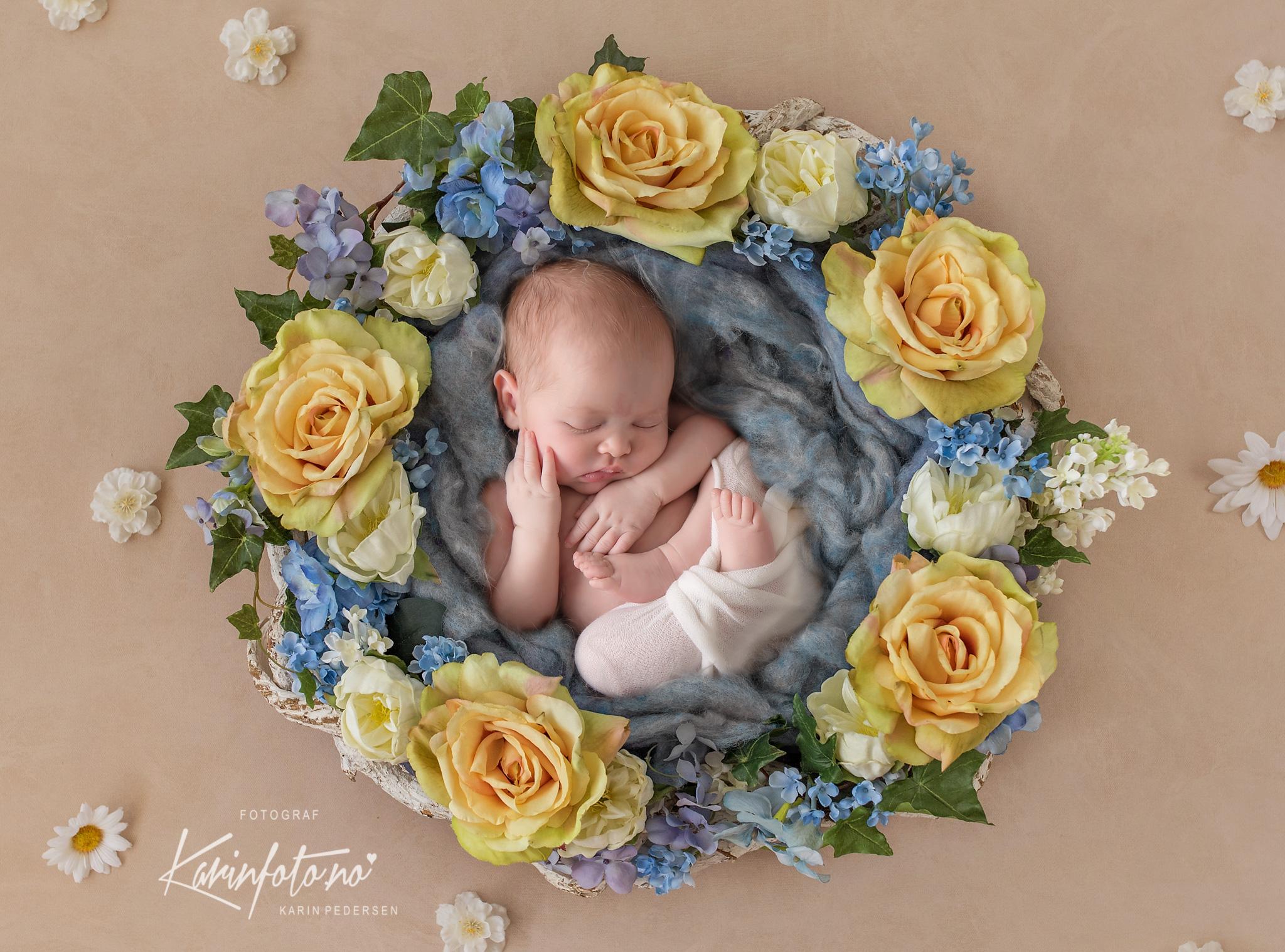 Nyfødtfotografering,fineart,blomster,fotograf,nyfødt,fotograf,baby,barsel,fødsel