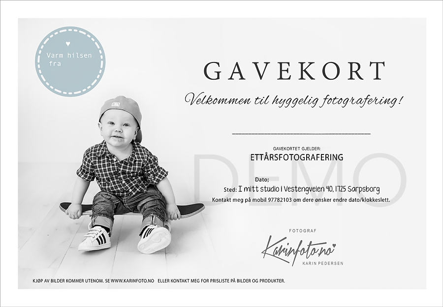 Gavekort,Fotografering,fotograf Karin Pedersen,KarinFoto,Babyfotografering,Nyfødtfotografering,Babyshowergave,barselgave,bursdagsgave,tips,gavetips,