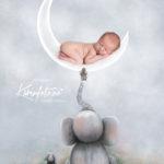 Poster,barnerom,baby,nyfødt,elefant,Karinfoto,fotograf Karin Pedersen,babyfotografering,Sarpsborg,Fredrikstad,Moss,Halden,Oslo,østlandet